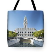 Town Hall In Porto Portugal Tote Bag
