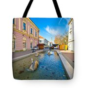 Town Of Bjelovar Square Fountain Tote Bag