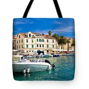 Town Of Hvar Waterfront View Tote Bag