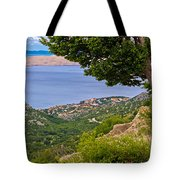 Town Of Karlobag And Island Of Pag Tote Bag