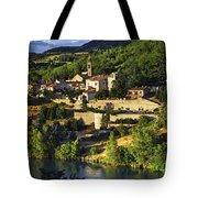 Town Of Sisteron In Provence Tote Bag