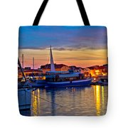 Town Of Vodice Harbor And Monument Tote Bag