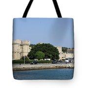 Town Wall - Rhodos City Tote Bag
