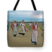 Townsfolk On Main Street In Louisbourg Living History Museum-174 Tote Bag