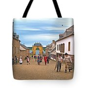 Townsfolk On Street To The Sea In Louisbourg Living History Museum-174 Tote Bag