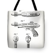 Toy Ray Gun Patent Tote Bag