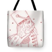 Toy Soldier Nutcracker In Red Tote Bag