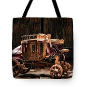 Toy Stagecoach Tote Bag