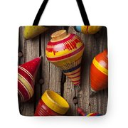 Toy Tops Tote Bag by Garry Gay