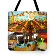 Toy Town Carousel  Tote Bag