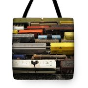 Toy Trains Tote Bag