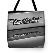 Toyota Land Cruiser Emblem -0581bw Tote Bag