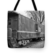 Tpw Rr Caboose Black And White Tote Bag