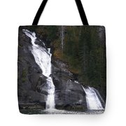 Tracey Arm Fjord Waterfall Tote Bag