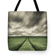 Tracks Tote Bag by Dave Bowman