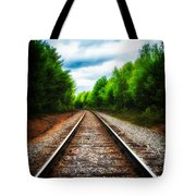 Tracks Through The Woods Tote Bag
