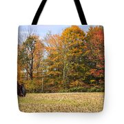 Tractor In Autumn New England Field Tote Bag