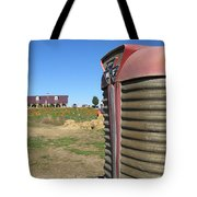 Tractor On The Pumpkin Farm Tote Bag