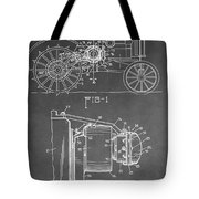 Tractor Patent Tote Bag