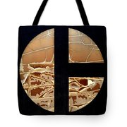 Tractor Triptych Tote Bag