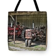 Tractors In The Shed Tote Bag