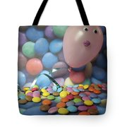 Tracy Felt Like A Real Airhead Surrounded By All These Smarties Tote Bag