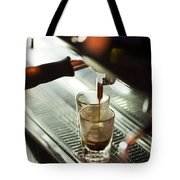 Traditional Espresso Coffee And Machine  Tote Bag