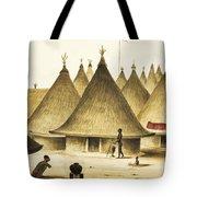 Traditional Native Village Circa 1840 Tote Bag