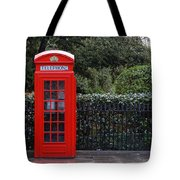 Traditional Red Telephone Box In London Tote Bag