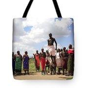 Traditional Samburu Dance Tote Bag