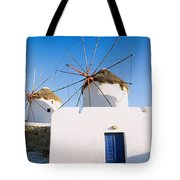 Traditional Windmill In A Village Tote Bag