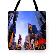 Traffic Cop In Times Square New York City Tote Bag