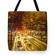 Traffic In A Big City Tote Bag