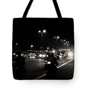 Traffic On Indian Roads Tote Bag