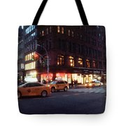 Traffic On The Street At Night, 23rd Tote Bag