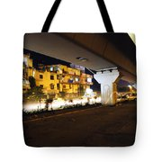 Traffic Running Beneath Flyover Tote Bag