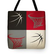 Trail Blazers Ball And Hoop Tote Bag