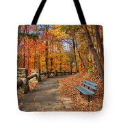 Trail Of Gold Tote Bag