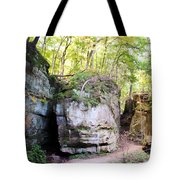 Trail Through The Rocks Wildcat Den State Park Tote Bag