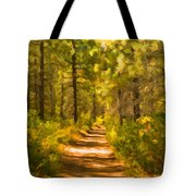 Trail Through The Woods Tote Bag