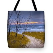 Trail To The Beach Tote Bag