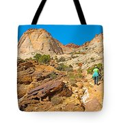 Trail Up To The Tanks From Capitol Gorge Pioneer Trail In Capitol Reef National Park-utah Tote Bag