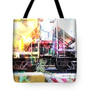 Train Abstract Blend 1 Tote Bag