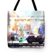Train Abstract Blend 4 Tote Bag