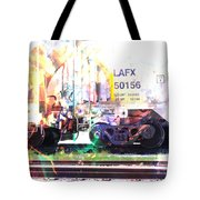 Train Abstract Blend 6 Tote Bag