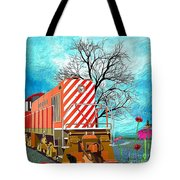 Train - All Aboard - Transportation Tote Bag