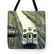 Train Approaching Tote Bag