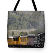 Train Arriving In Silverton Tote Bag