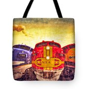 Train Art At Union Station Tote Bag