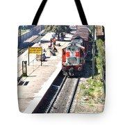 Train At Delhi Station Tote Bag